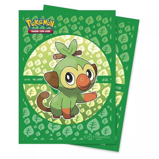 Deck Protectors Sleeves. Pokemon. Sword and Shield Galar Starters Grookey. 65 Pz (E-15360)
