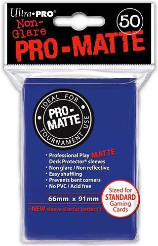 Ultra Pro Proteggi Carte Standard Pacchetto Da 50 Bustine Pro-Matte Non-Glare Blue 12/120 - 5