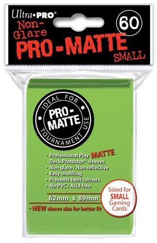 Ultra Pro Proteggi Carte Mini Pacchetto Da 60 Bustine 62Mm X 89Mm Pro-Matte Non-Glare Lime Green 10/100