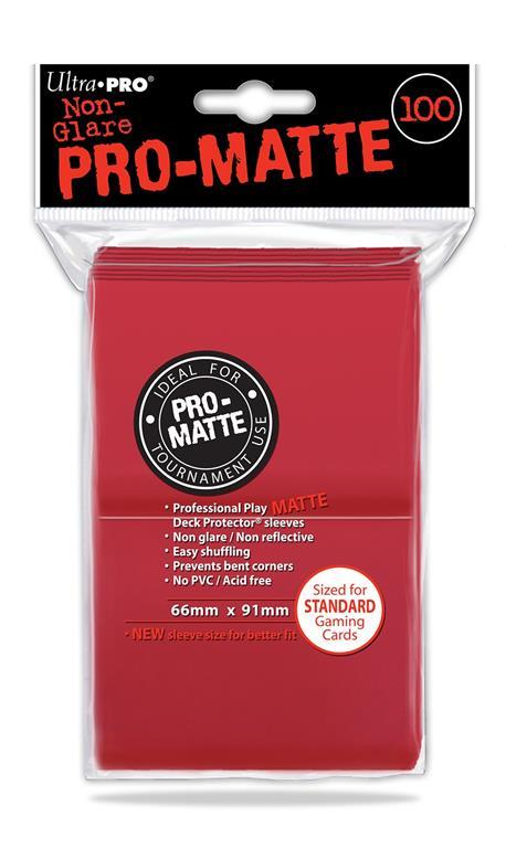 UP. PRO MATTE STANDARD SIZE. RED (100 bustine protettive)