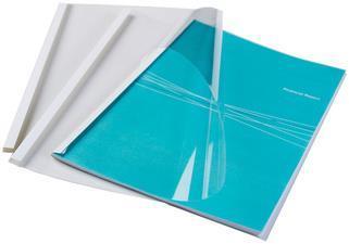 Fellowes 53154 cartellina A4 Plastica Trasparente, Bianco 100 pezzo(i)