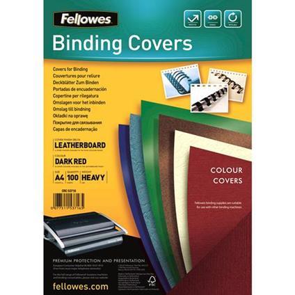 Fellowes 5371603 cartellina A4 Carta Rosso 100 pezzo(i)