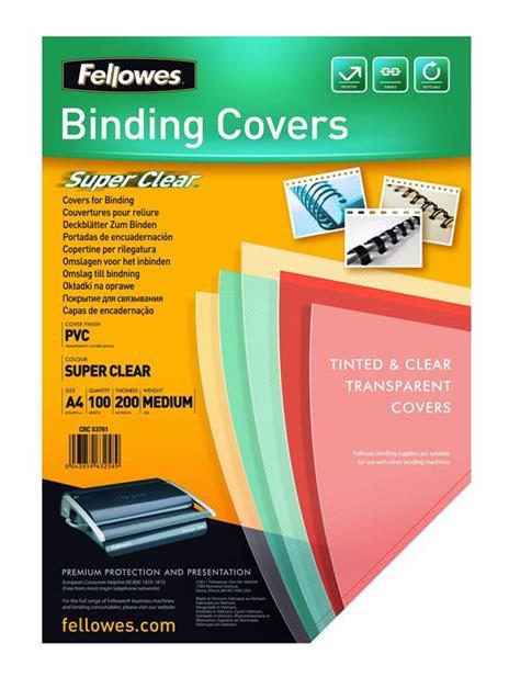 Fellowes 5376001 cartellina A4 PVC Trasparente 100 pezzo(i) - 2