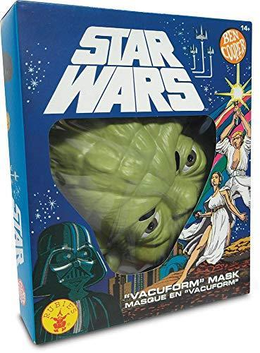 Rubies - Maschera ufficiale Yoda Ben Cooper Edition, ST-34965 Star Wars, per travestimento da adulto, unisex, ST-34968, multicolore