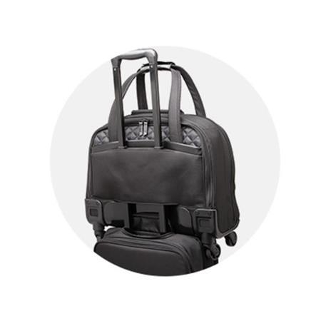 Kensington K60380WW valigia Ruote girevoli Nero Poliestere - 7