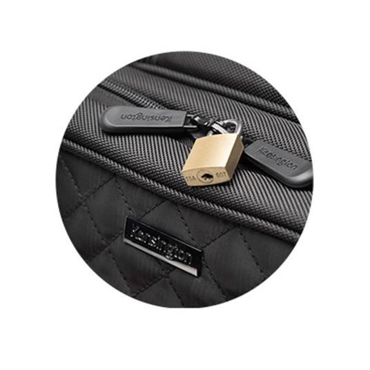 Kensington K60380WW valigia Ruote girevoli Nero Poliestere - 10
