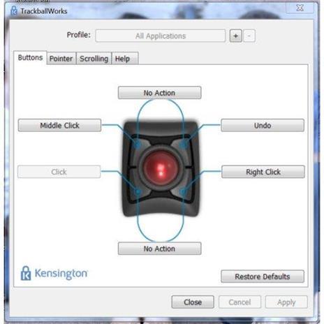 Tastiera con Mouse WiFi Kensington Trackball Expert - 10