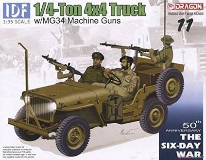 Camionetta IDF 1/4 TON 4X4 TRUCK w/MG34 1/35. Dragon Models DR3609