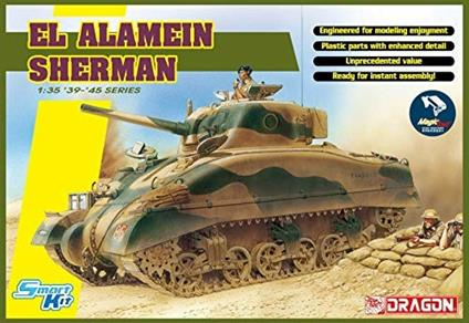 Carro Armato EL ALAMEIN SHERMAN W/MAGIC TRACKS. Scala 1/35. Dragon Models DR6617