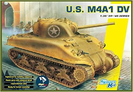 Carro Armato US M4A1 DV W/MAGIC TRACKS. Scala 1/35. Dragon Models DR6618