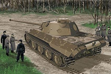 Carro armato Panther AUSF.D V2 Versuchsserie 1/35. Dragon Models DR6830