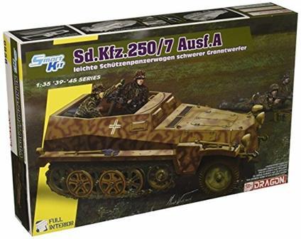 Veicolo semicingolato SD.KFZ.250/7 MORTAR CARRIER 1/35. Dragon Models DR6858