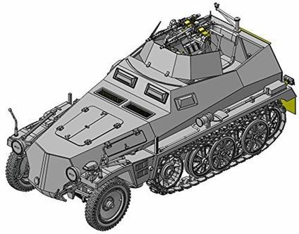 Veicolo semicingolato SD.KFZ. 250/4 ZWILLING MG34 1/35. Dragon Models DR6878