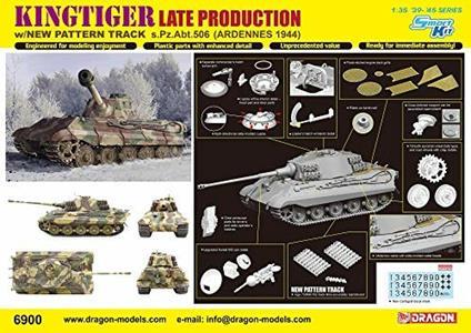 Carro armato Kingtiger Late Production. Dragon Models DR6900