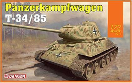 Carro Armato PANZERKAMPFWAGEN T-34/85. Scala 1/72. Dragon Models DR7564