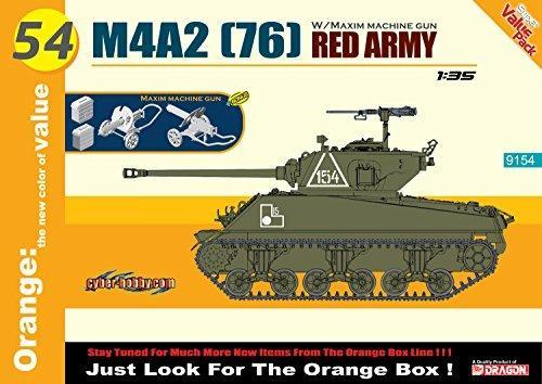 Carro Armato M4A2(76 RED ARMY + MAXIM MACHINE GUN 1/35. Dragon Models DR9154