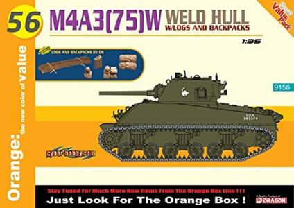 Carro Armato M4A3 75 W WELDED HULL 1/35. Dragon Models DR9156