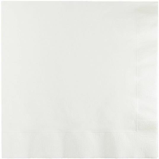 Tovagliolo 33 x 33 cm, 2 veli Bianco White