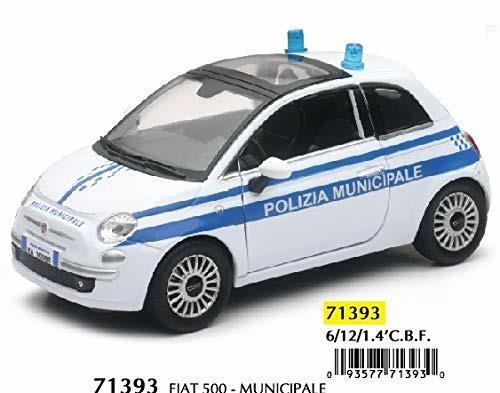Newray Fiat Cinquecento Polizia Municipale Scala 1:24 Modellino