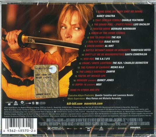 Kill Bill vol.1 (Colonna sonora) - CD Audio - 2