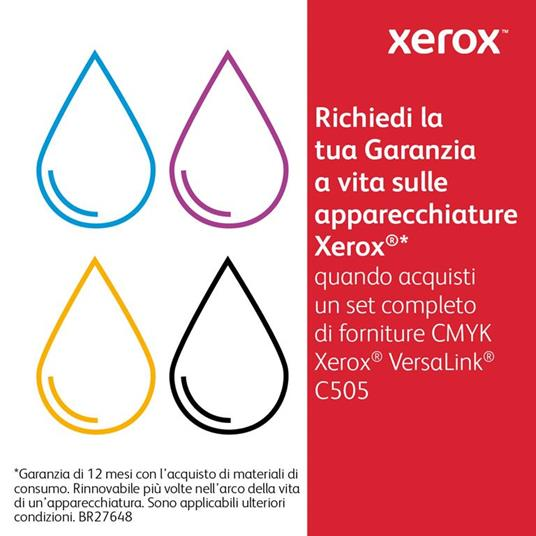 Xerox Cartuccia toner Nero a Standard da 5000 pagine per VersaLink C500 / C505 (106R03862) - 2