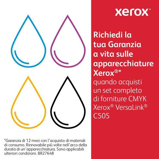 Xerox Cartuccia toner Ciano da 9.000 pagine per VersaLink C500 / C505 (106R03873) - 8