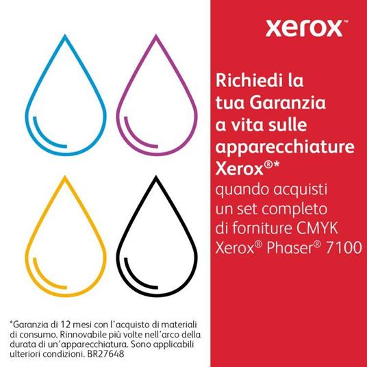 Xerox Cartuccia toner Giallo a Standard da 4.500 pagine per Phaser 7100 (106R02601) - 3