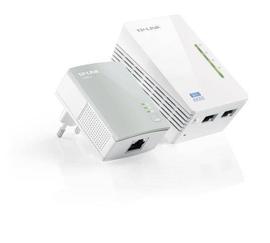 Adattatore PoE TP-LINK Av500 Wi-fi Range Extender Powerline Edition Starter Kit W/ 2 LAN Ports