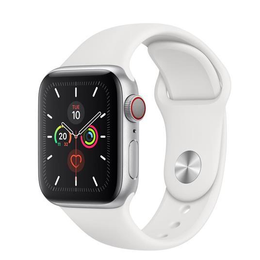 Apple Watch Series 5 GPS + Cellular, 40mm in alluminio argento con cinturino Sport Bianco - 2