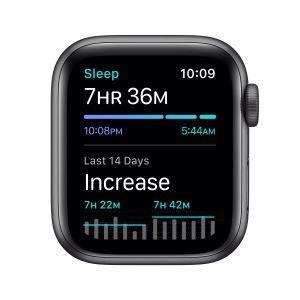 Apple Watch SE GPS, 40mm in alluminio grigio siderale con cinturino Sport Nero - 2