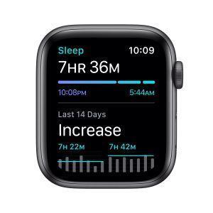 Apple Watch Nike SE GPS, 44mm in alluminio grigio siderale con cinturino Sport Nike Antracite/Nero - 2