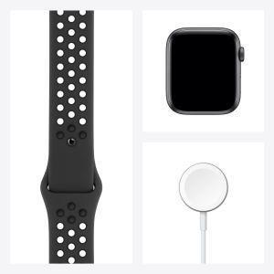 Apple Watch Nike SE GPS, 44mm in alluminio grigio siderale con cinturino Sport Nike Antracite/Nero - 5
