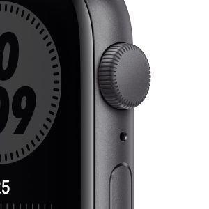Apple Watch Nike SE GPS, 44mm in alluminio grigio siderale con cinturino Sport Nike Antracite/Nero - 7