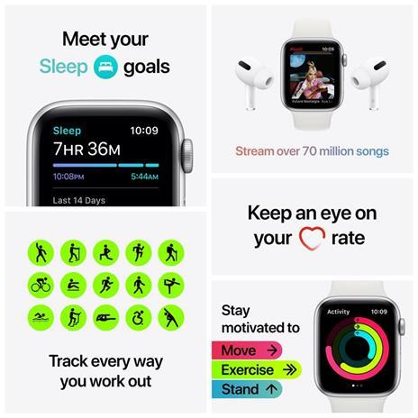 Apple Watch SE Nike OLED 40 mm Grigio 4G GPS (satellitare) - 4