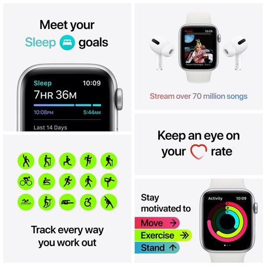 Apple Watch SE Nike OLED 44 mm Grigio 4G GPS (satellitare) - 4