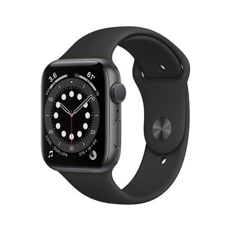 Apple Watch Serie 6 GPS, 40mm in alluminio grigio siderale con cinturino Sport Nero