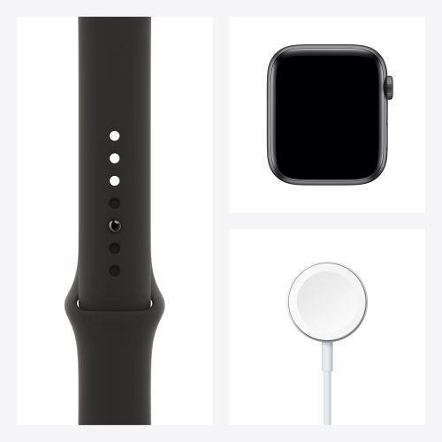 Apple Watch Serie 6 GPS, 40mm in alluminio grigio siderale con cinturino Sport Nero - 2