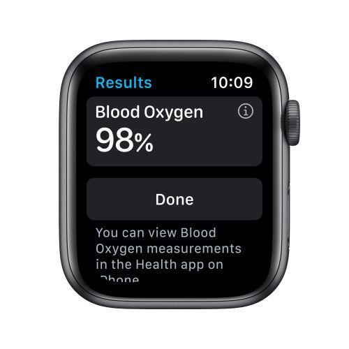 Apple Watch Serie 6 GPS, 40mm in alluminio grigio siderale con cinturino Sport Nero - 4