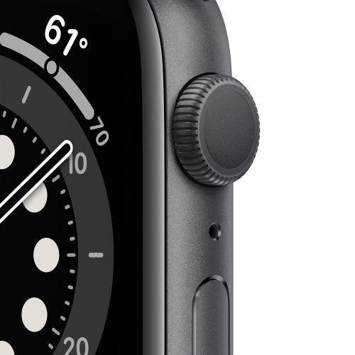 Apple Watch Serie 6 GPS, 40mm in alluminio grigio siderale con cinturino Sport Nero - 5