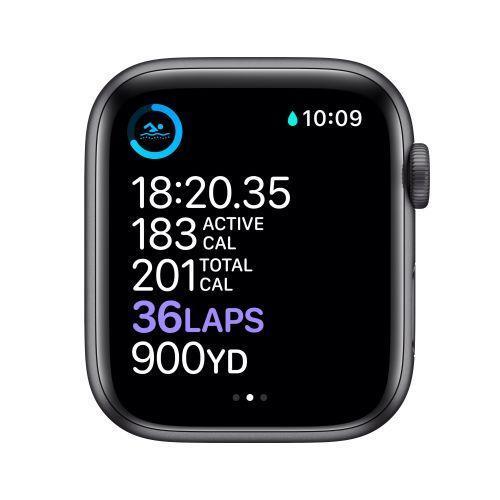Apple Watch Serie 6 GPS, 40mm in alluminio grigio siderale con cinturino Sport Nero - 6