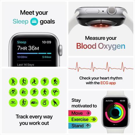 Apple Watch Series 6 OLED 40 mm Blu GPS (satellitare) - 3