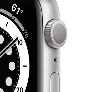 Apple Watch Serie 6 GPS, 40mm in alluminio argento con cinturino Sport Bianco - 6