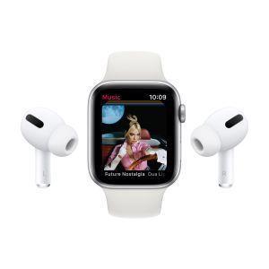 Apple Watch Serie 6 GPS, 44mm in alluminio argento con cinturino Sport Bianco - 5