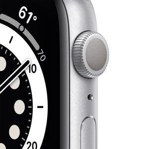 Apple Watch Serie 6 GPS, 44mm in alluminio argento con cinturino Sport Bianco - 6