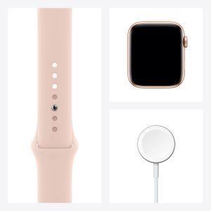 Apple Watch Serie 6 GPS, 44mm in alluminio oro con cinturino Sport Rosa sabbia - 4