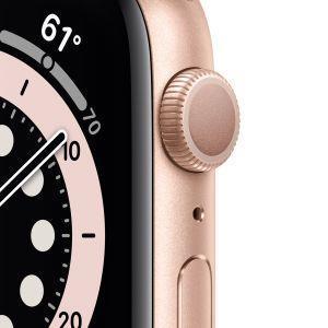 Apple Watch Serie 6 GPS, 44mm in alluminio oro con cinturino Sport Rosa sabbia - 6