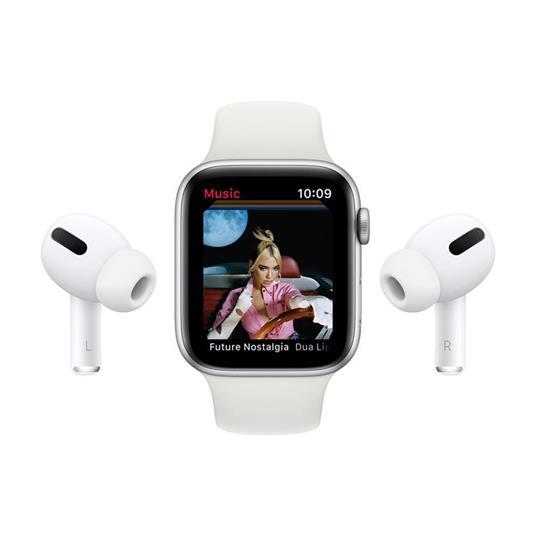 Apple Watch Serie 6 GPS, 44mm in alluminio grigio siderale con cinturino Sport Nero - 5