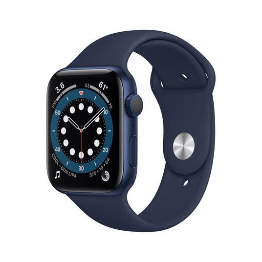 Apple Watch Serie 6 GPS, 44mm in alluminio azzurro con cinturino Sport Deep navy