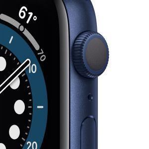 Apple Watch Serie 6 GPS, 44mm in alluminio azzurro con cinturino Sport Deep navy - 6