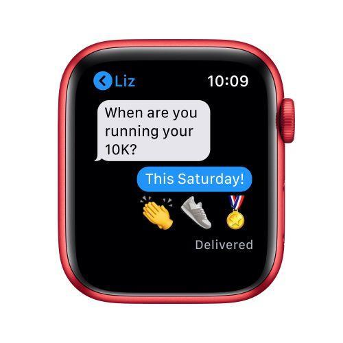Apple Watch Serie 6 GPS, 44mm in alluminio PRODUCT(RED) con cinturino Sport PRODUCT(RED) - 2